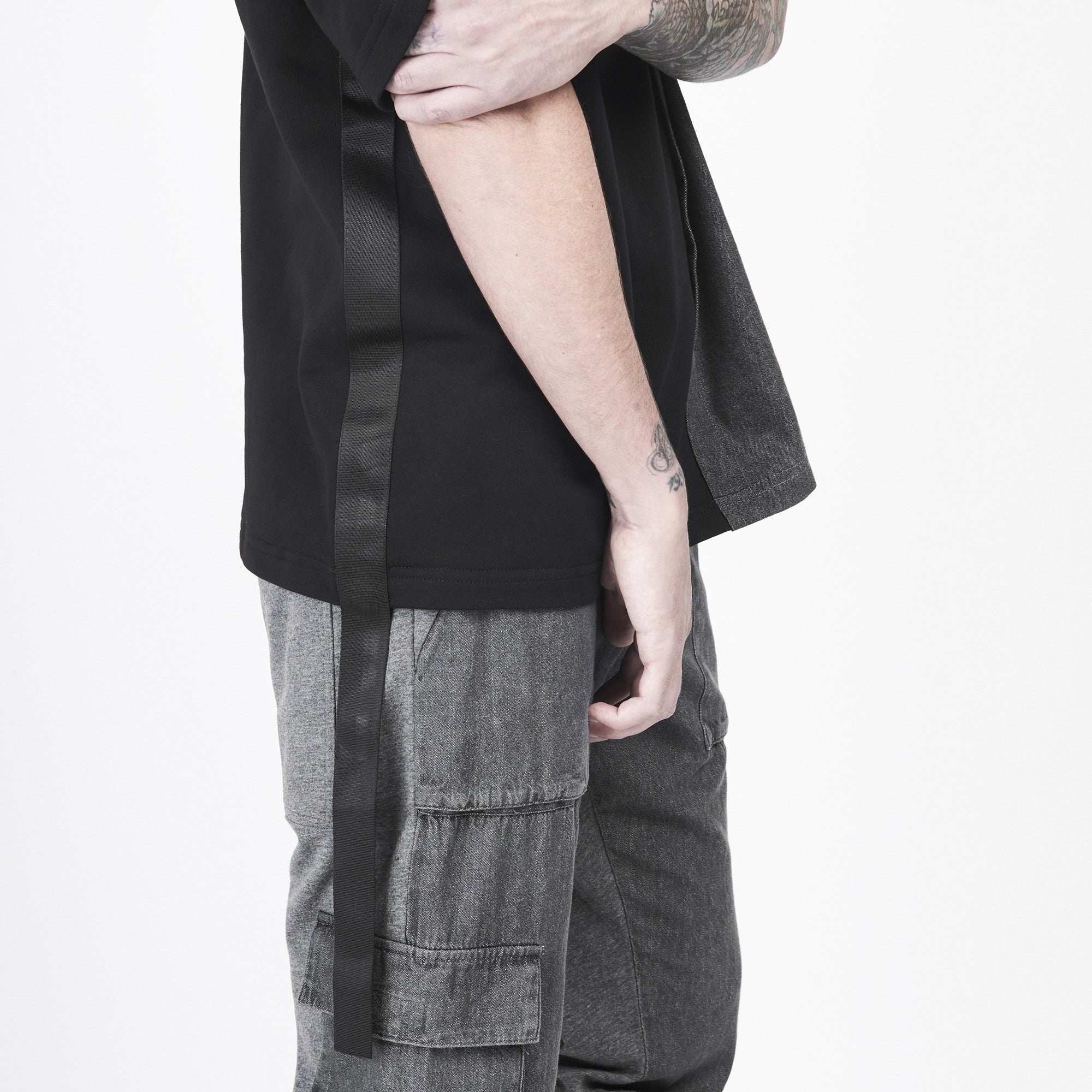 Soft Washed Denim Splice Tee - CGNY