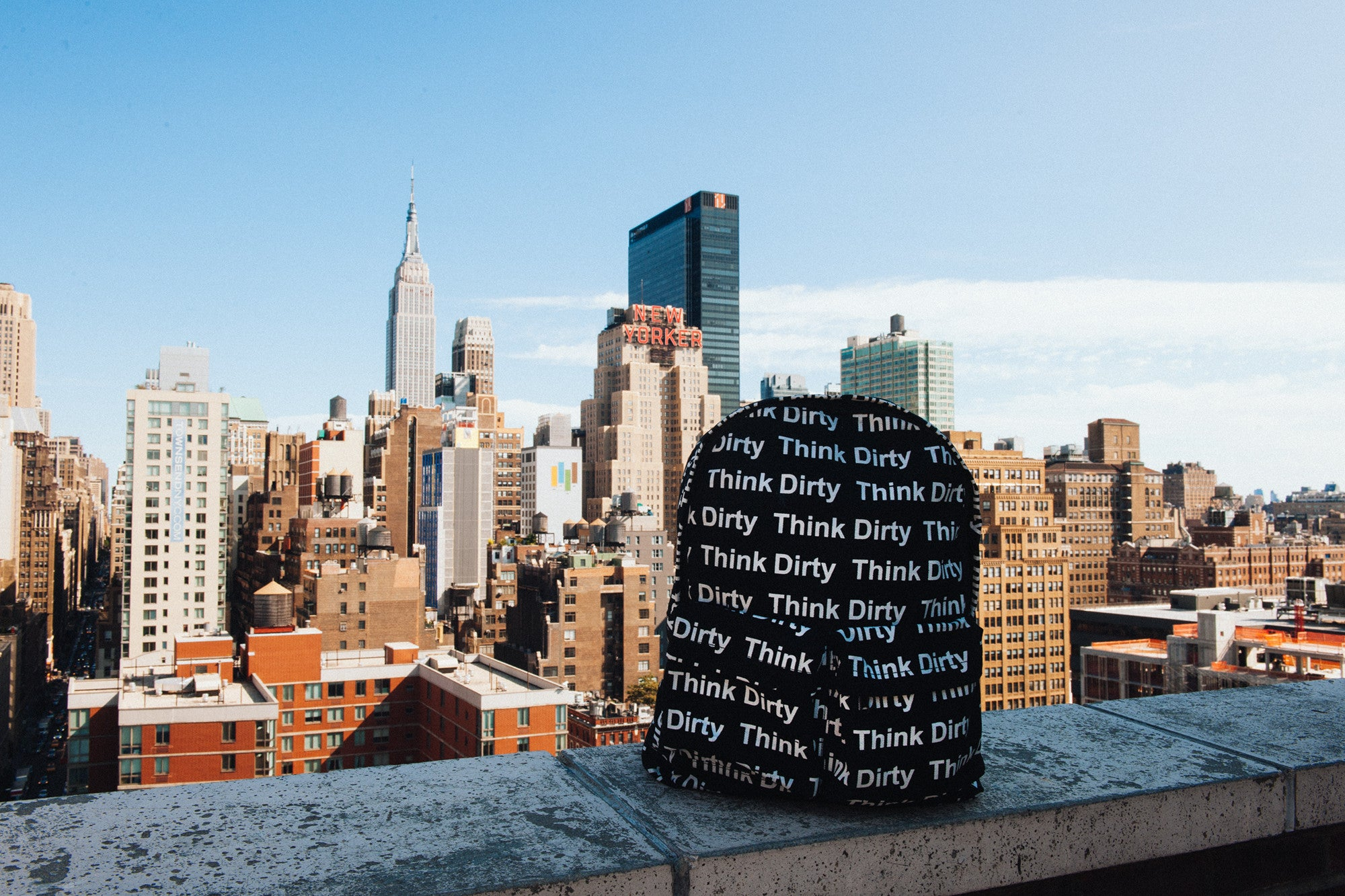 """Think Dirty"" Canvas Book Bag - CGNY"
