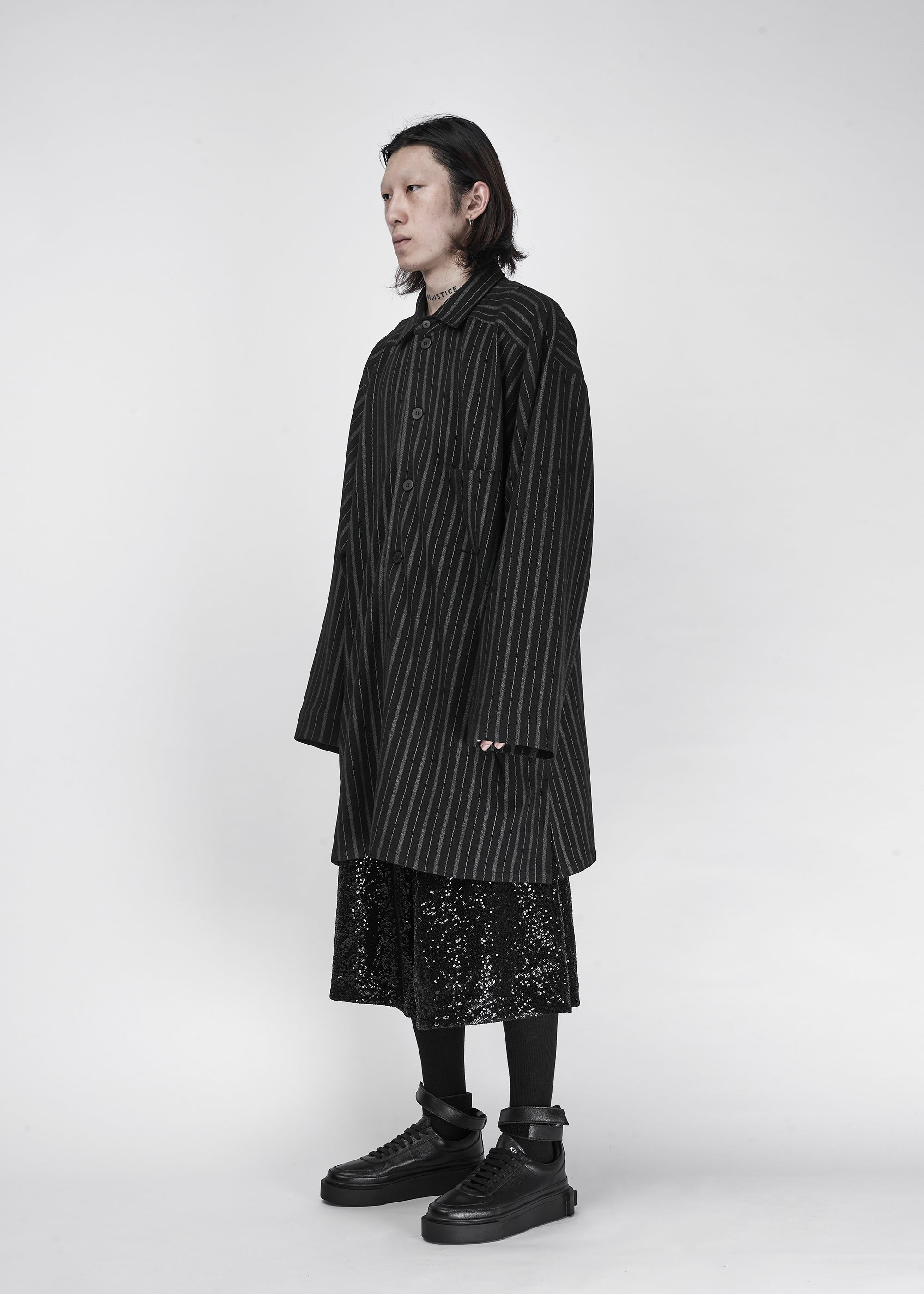 The Dirty Collection Oversized Strip Shirt - CGNY