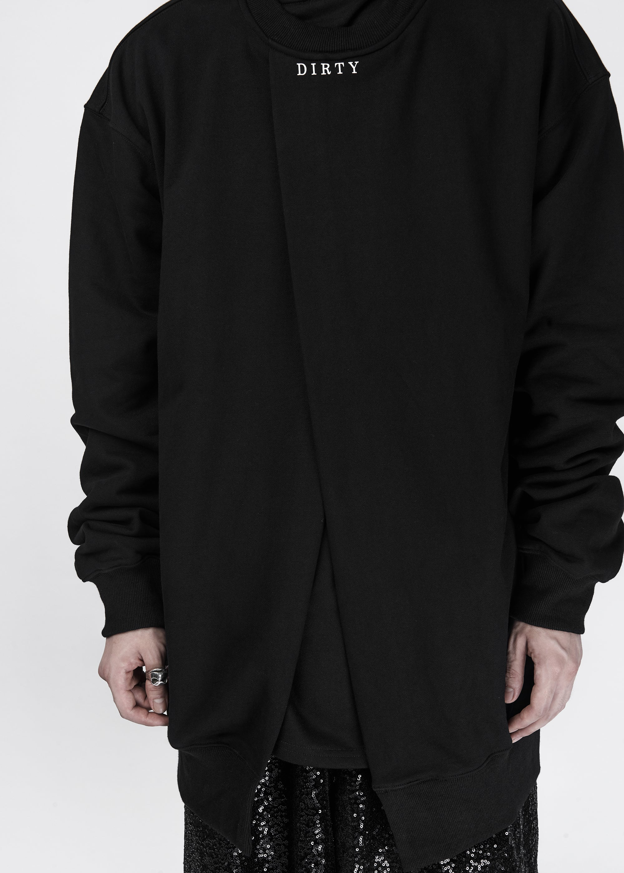 The Dirty Collection Split Front Sweatshirt - CGNY