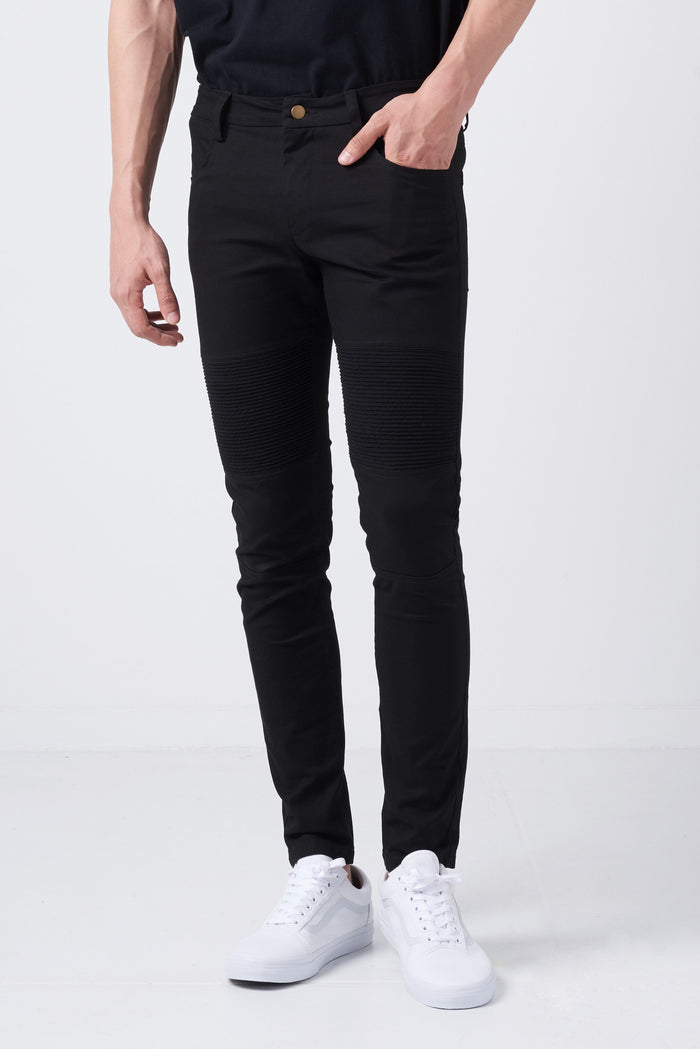 Skinny Jeans with Biker Stitching Details - CGNY