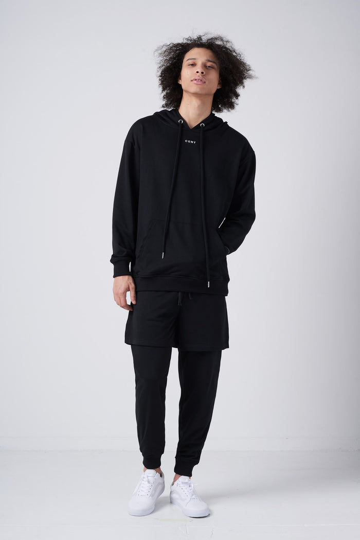 Double-Layer Joggers in Black - CGNY