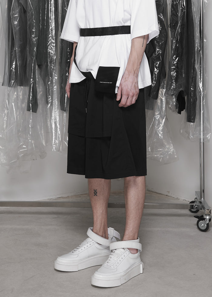 CGNY x CTMR layered shorts with straps - CGNY