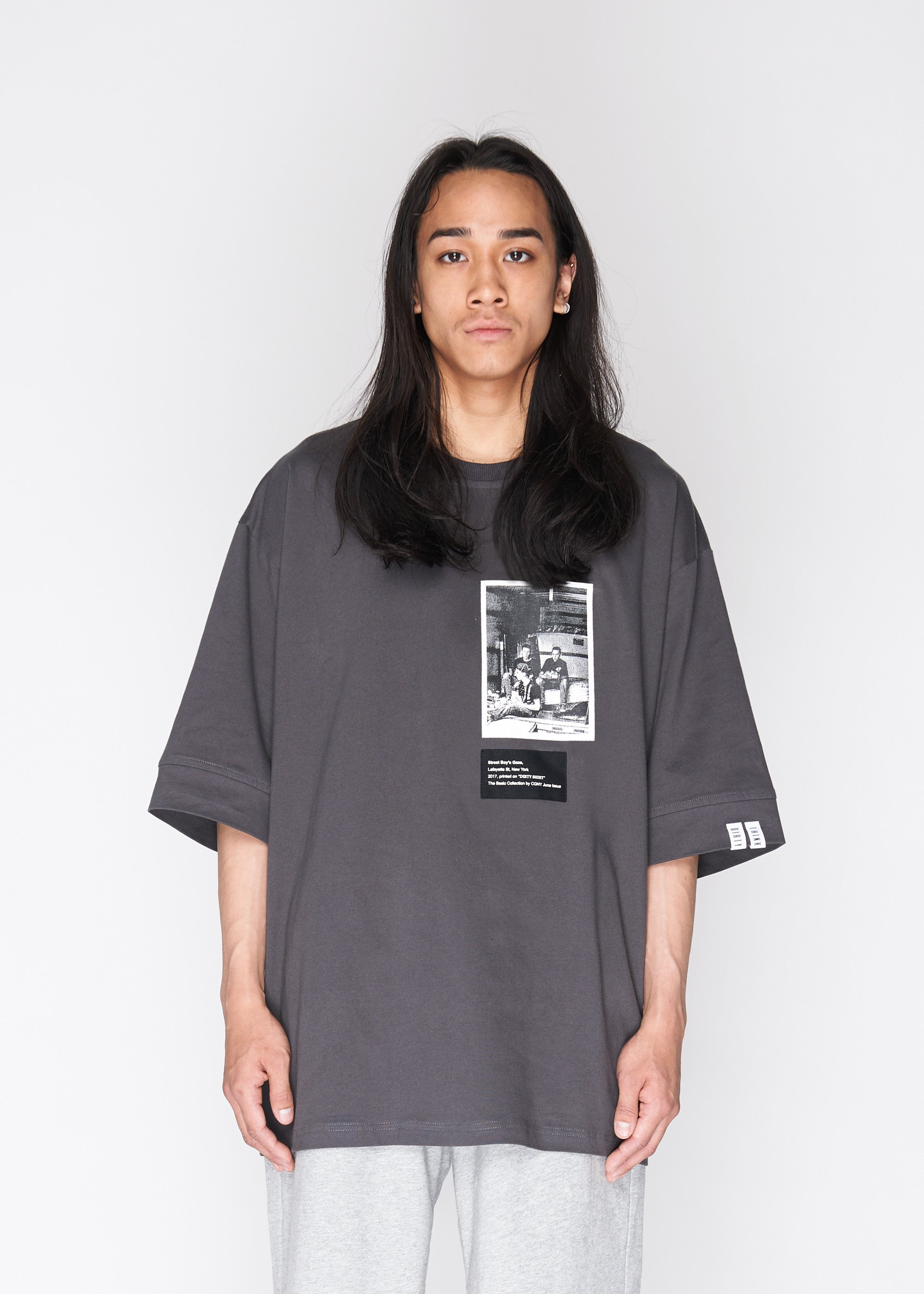 Oversized Photo Tee in Charcoal - CGNY