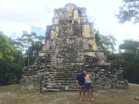 Ashley and Dave seeing the Mayan Ruins