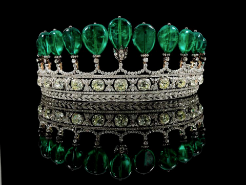 """The Most Important Diamond and Emerald Tiara"""
