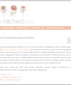 One Hitched Lane Blog Feature