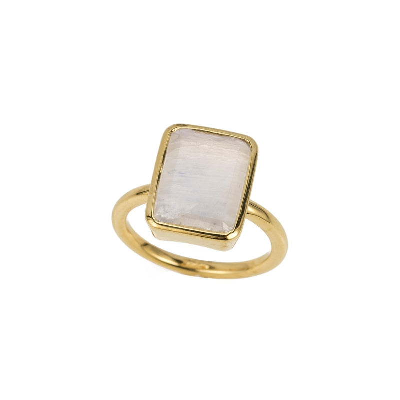 Large Emerald Cut Bezel Ring-Rings-Ashley Schenkein Jewelry Design