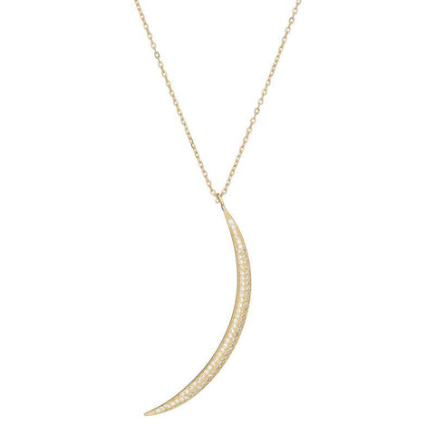 Tulum CZ Crescent Moon Necklace