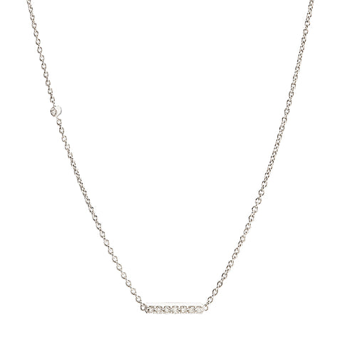 Diamond Bar + Offset Diamond Necklace, 14k