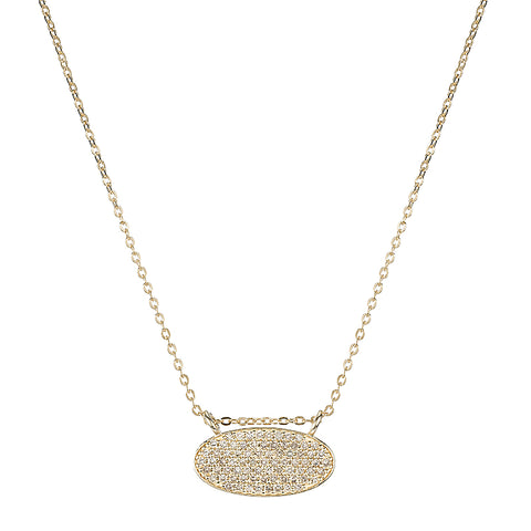 Diamond Pavé MAMA Necklace, 14ky