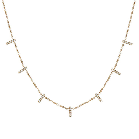 Diamond Gold Star Necklace