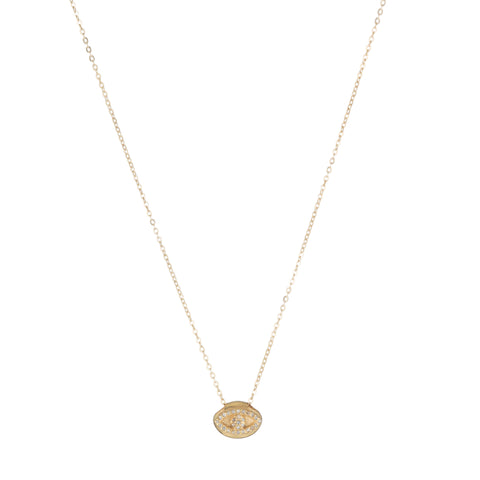 Brooklyn Pavé Diamond Evil Eye Necklace