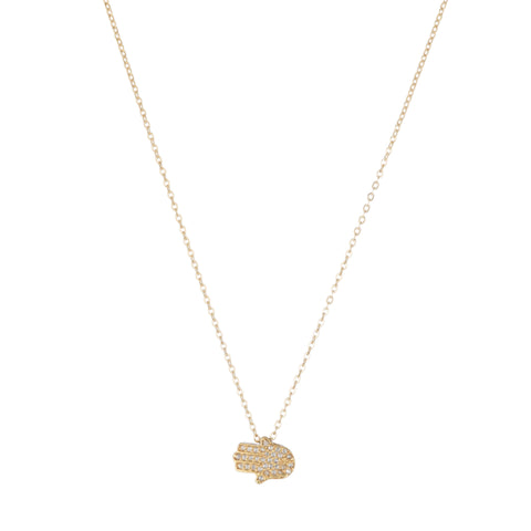 Brooklyn Pavé Diamond Hamsa Necklace