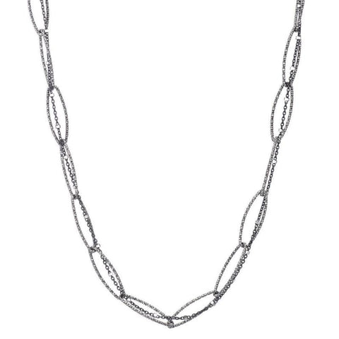 Greece Pavé Boat Knot Necklace