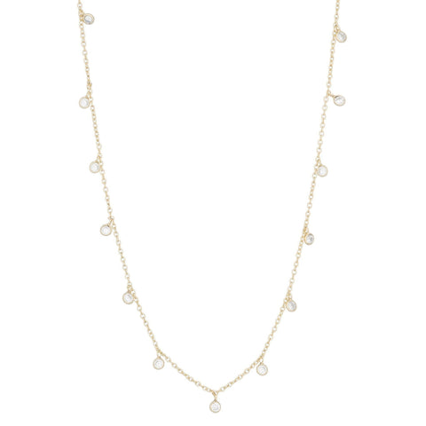 Brooklyn Diamond Pavé Cushion Necklace