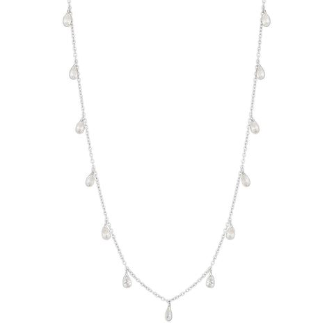 Mountain Necklace with White Topaz