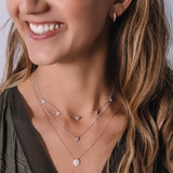 Melrose Pavé CZ Triangle Drops Necklace-Necklace-Ashley Schenkein Jewelry Design