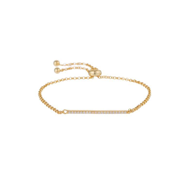 Melrose CZ Pavé Bar Bolo Bracelet-Bracelets-Ashley Schenkein Jewelry Design