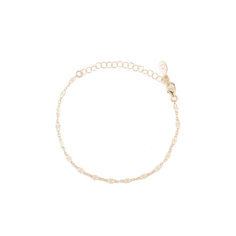 Greece Dainty Chain Bracelet-Bracelets-Ashley Schenkein Jewelry Design