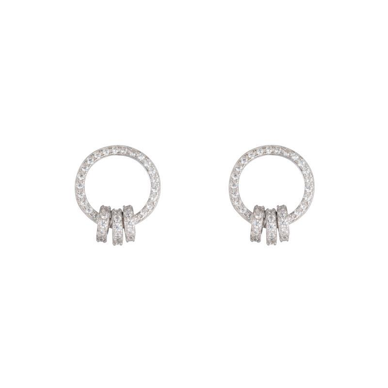 Melrose CZ Pavé Hoop with Rings-Earrings-Ashley Schenkein Jewelry Design