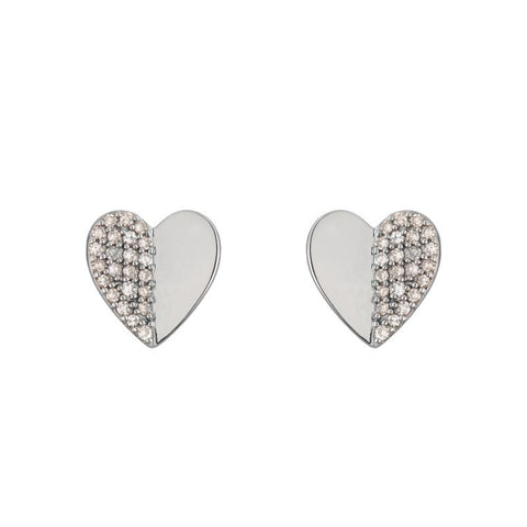 Croatia Mini Folded Heart Single Stud Earring