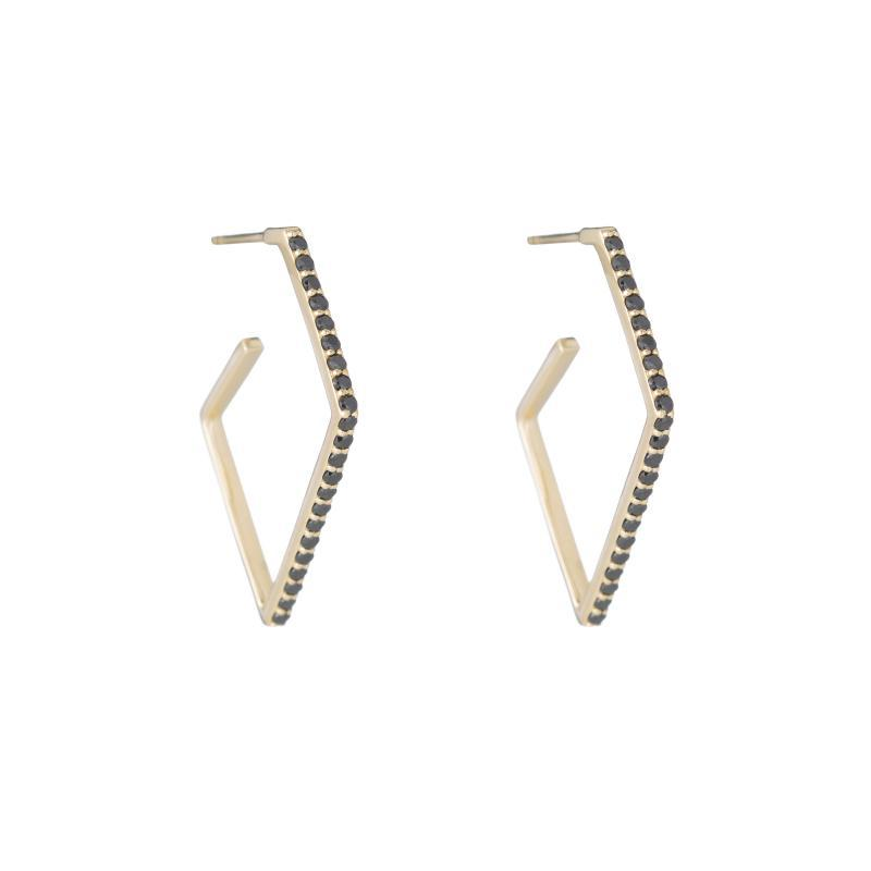 Tokyo Pavé Geometric Earrings-Earrings-Ashley Schenkein Jewelry Design