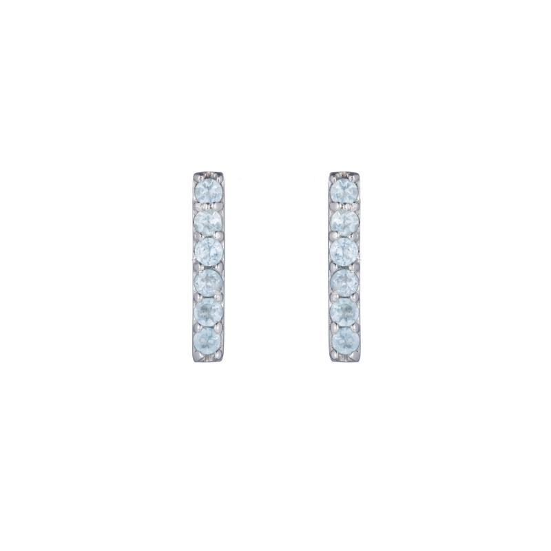 Greece Pavé Gemstone Stick Earrings-Earrings-Ashley Schenkein Jewelry Design