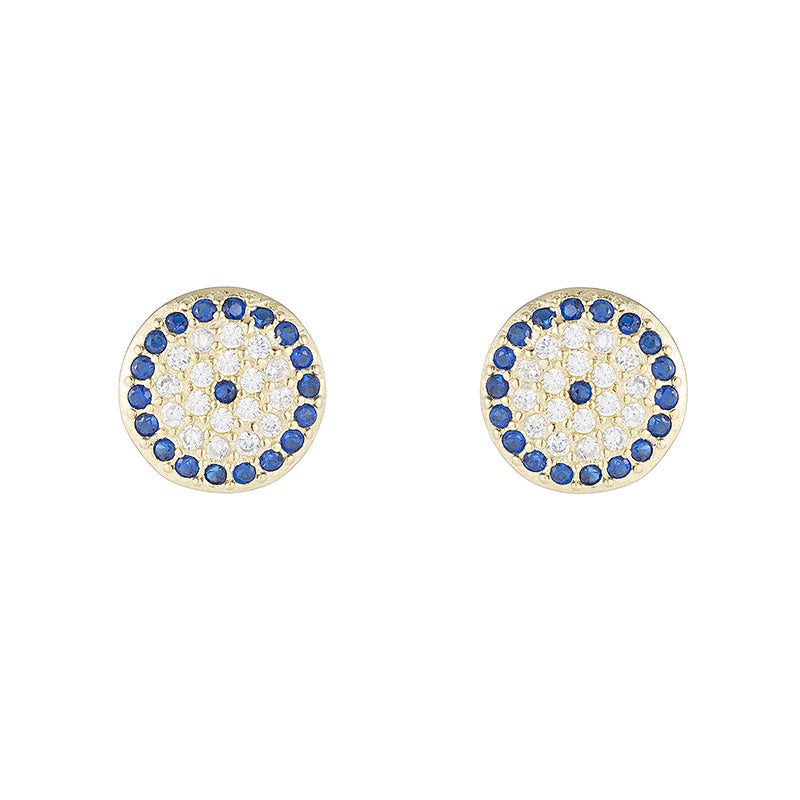 Greece CZ Evil Eye Earrings-Earrings-Ashley Schenkein Jewelry Design