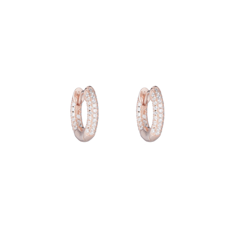 Melrose Pavé CZ Huggies-Earrings-Ashley Schenkein Jewelry Design