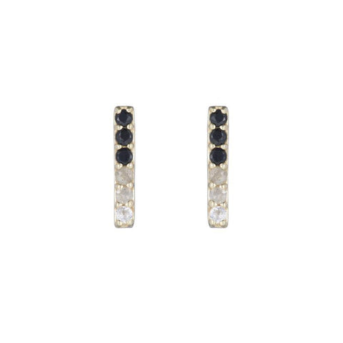 Greece Pavé Gemstone Stick Earrings
