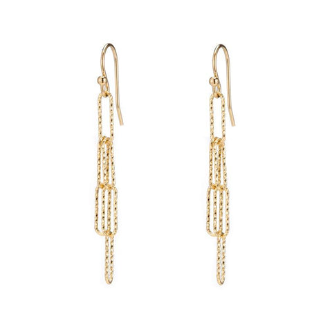 Croatia Pavé Triple Gemstone Bar Earrings