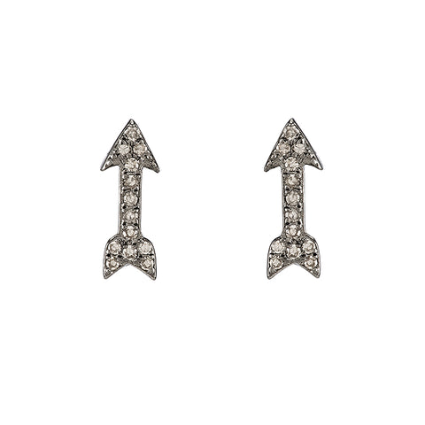 Diamond Pavé Lock Stud Earring, 14k