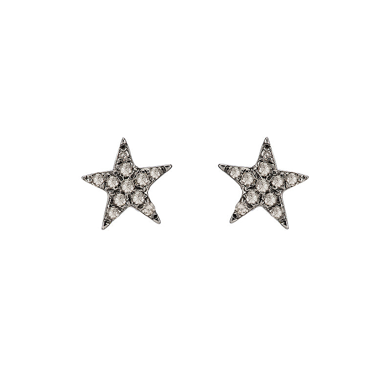 Brooklyn Diamond Pavé Mini Star Studs