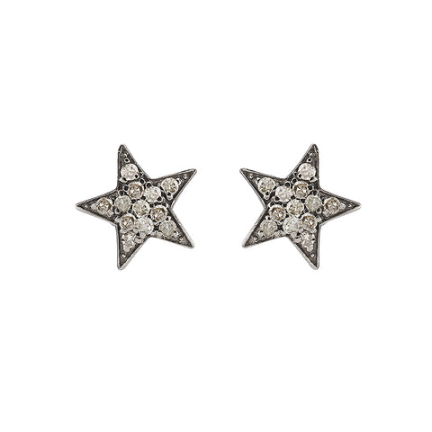 Brooklyn Diamond Pavé Lightening Bolt Stud Earrings