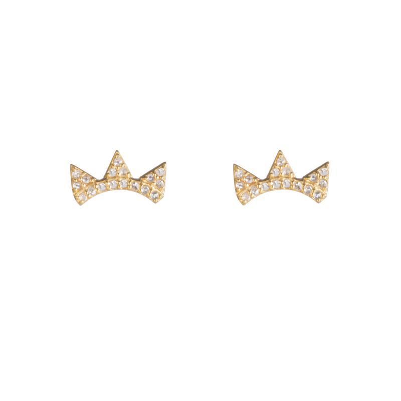 Brooklyn Diamond Triple Triangle Climbers-Earrings-Ashley Schenkein Jewelry Design