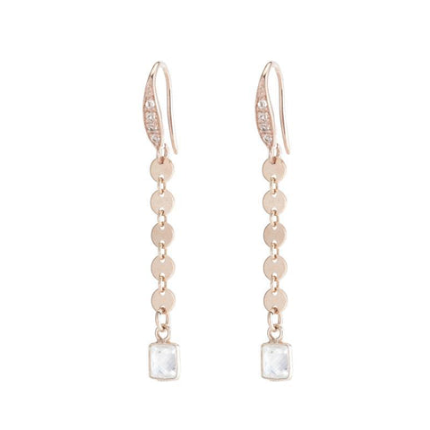 Greece Princess Gemstone Bar Earrings