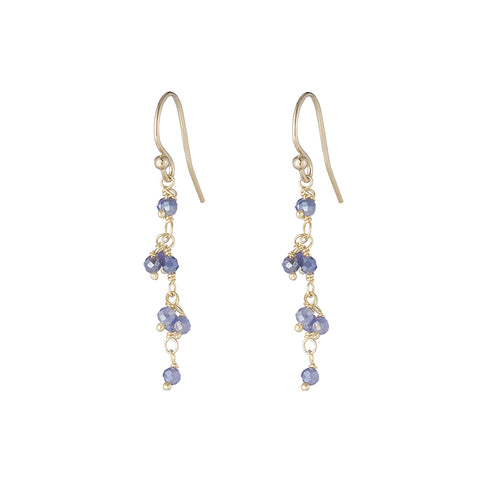 Greece Gemstone Mini Cluster Earrings