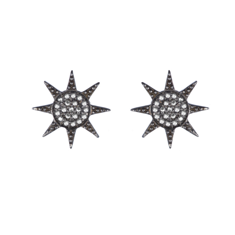 Brooklyn Diamond Pavé Starburst Earrings