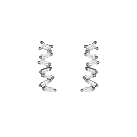Brooklyn Diamond Pavé Triangle Hoop Earrings