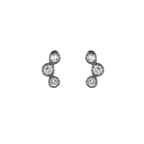 Brooklyn Diamond Triple Bezel Earrings