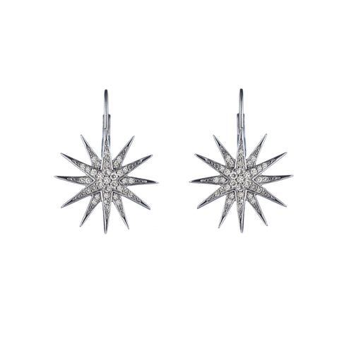 Brooklyn Diamond Pavé Starburst Drop Earrings