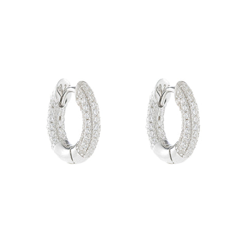 Melrose CZ Pavé Hoop with Rings