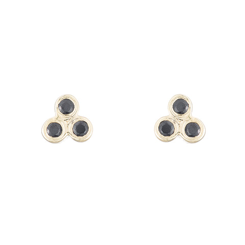 Greece Triple Bezel Gemstone Studs