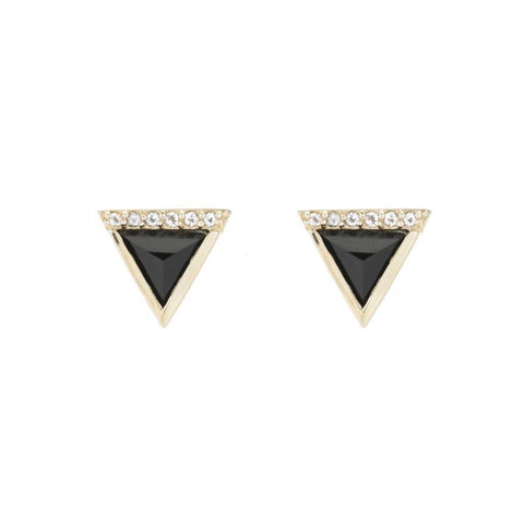 Portland Pavé Chevron Stud Earrings