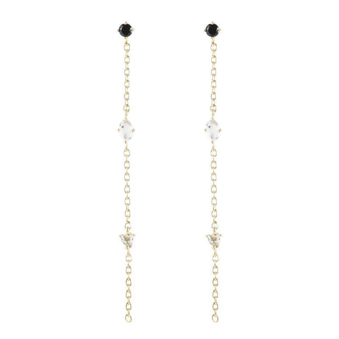 Portland Triple Gemstone Drop Earrings