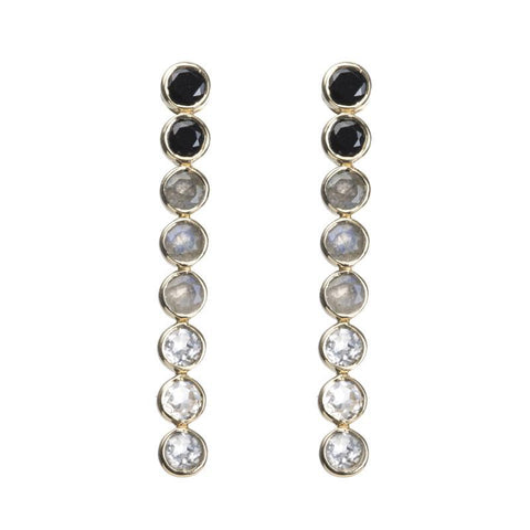 Jaipur Ombré Bezel Drop Earrings