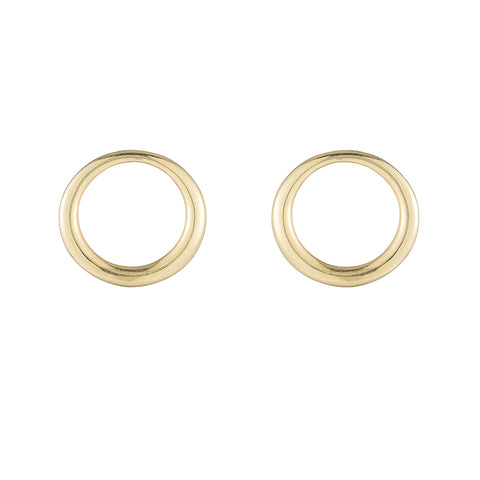 Greece Open Circle Stud Earrings