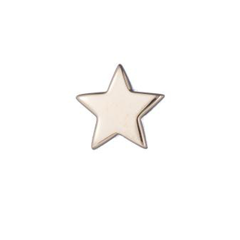 Solid Gold Mini Star SINGLE Stud Earring, 14k-Earrings-Ashley Schenkein Jewelry Design