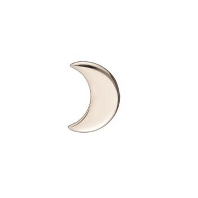 Solid Gold Mini Moon SINGLE Stud Earring, 14k-Earrings-Ashley Schenkein Jewelry Design